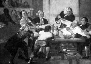 Dolore dal dentista - foto d'epoca